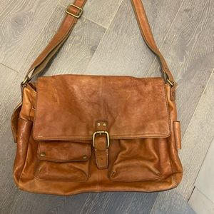 Men's genuine leather messenger bag